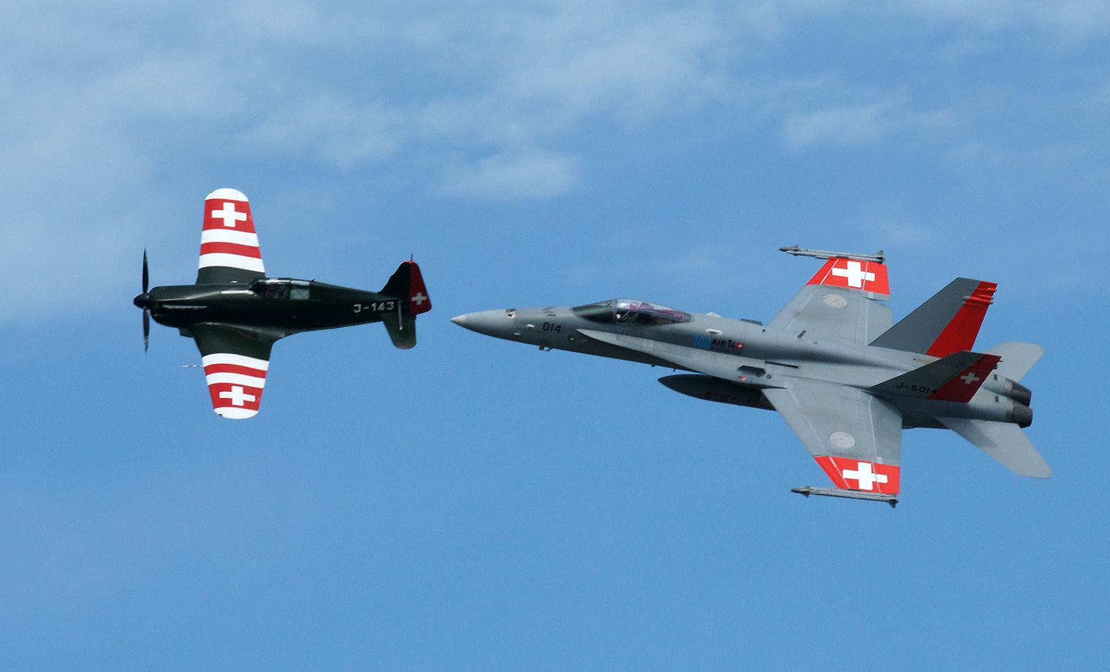 Morane D.3800 and F-18C Hornet