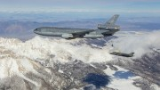 EDWARDS AIR FORCE BASE, Calif. -- Photos of Royal Netherland's Air Force KDC-10 tanker and F-35 Joint Strike Fighter conducting aerial refueling tests above Mount Whitney, Owens Valley, and the Western Mojave Desert in Southern California, March 31, 2016.