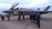 F-35 Royal Netherlands Air Force First landing on Dutch soil at Leeuwarden, AB Netherlands