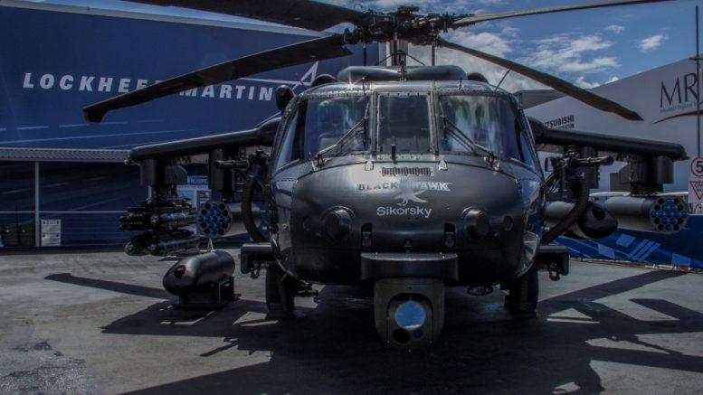 European-built BLACK HAWK helicopter