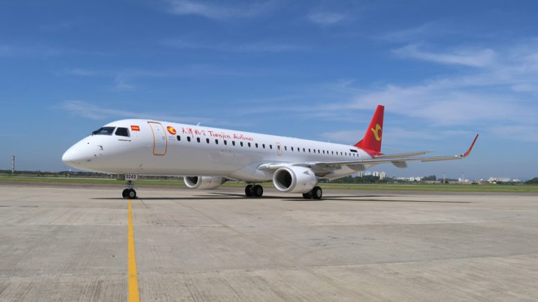Embraer E195 Tianjin Airlines