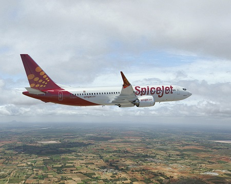 737 MAX 8 SpiceJet