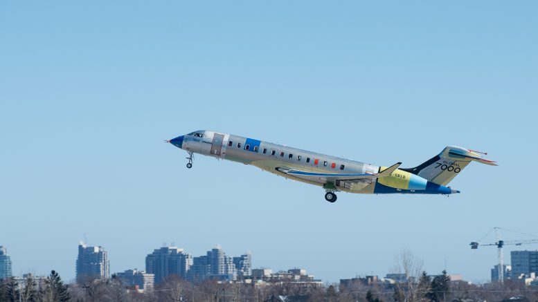 Bombardier Global 7000 second testplane