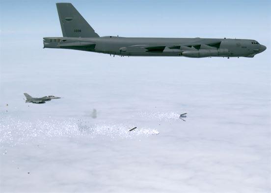USAF B-52 testers complete leaflet bomb drops