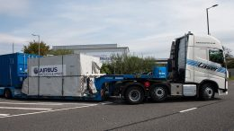 Sentinel-5 Precursor has left Airbus' Stevenage site and is on its way to the launch site