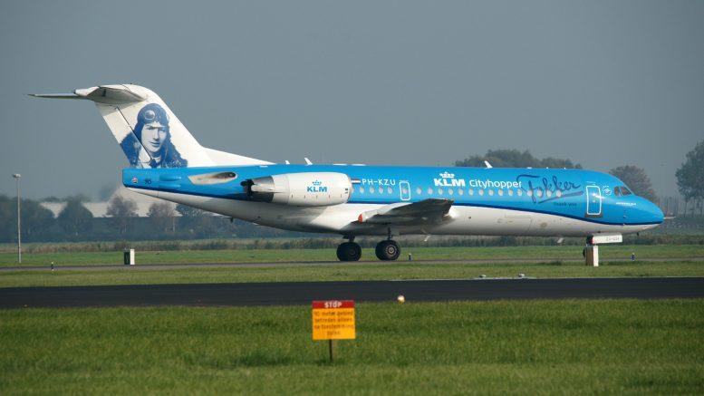 Fokker 70 PH-KZU KLM Cityhopper last flight from London Heathrow