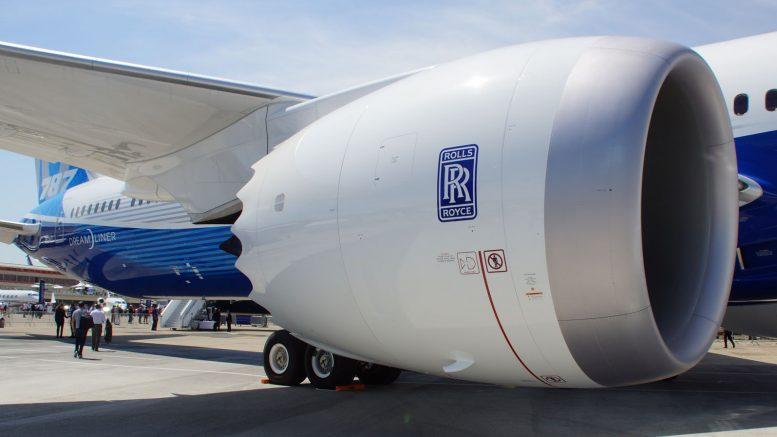 Boeing 787-10 Rolls-Royce Trent 1000 engine